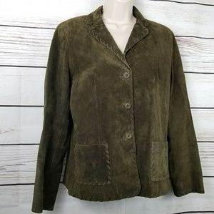 Worth Jackets & Coats - Worth | Olive Green Suede Leather Jacket